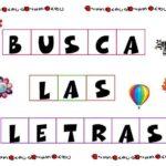 JUEGO PARA APRENDER A LEER: BUSCO LAS LETRAS (I)