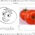 Dibujo divertido de tomate para colorear.