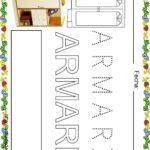 Fichas de lectoescritura para niños: Vocabulario escuela A