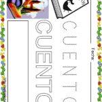 Fichas de lectoescritura para niños: Vocabulario escuela C
