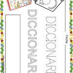 Fichas de lectoescritura para niños: Vocabulario escuela D