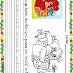 Fichas de lectoescritura para niños: Osito y abeja