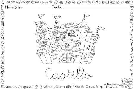 Dibujos Para Colorear Castillos Un Castillo Francés Para