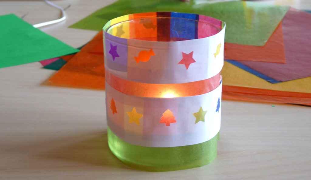 Farolillo navide o con papel de colores actividades infantil - Petit cadeau sympa pour noel ...