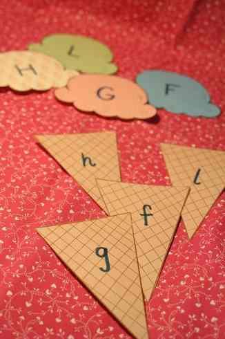 letras con helados