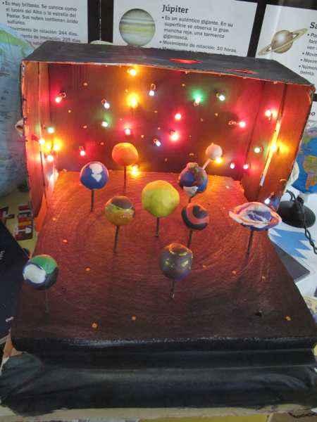 C mo hacer una bonita maqueta del sistema solar con los for Caja de colores jardin infantil