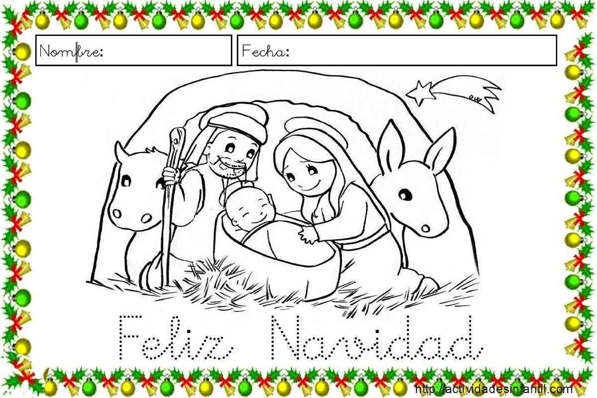 Fichas para trabajar la lectoescritura en navidad for Actividades de navidad para colorear
