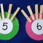 Aprendiendo a contar con círculos de colores