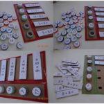 Un juego matemático para aprender las operaciones realizado con tapones reciclados