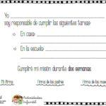 """Modelo de """"contrato"""" en pdf para trabajar la responsabilidad con los peques"""