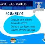 Cartel para trabajar los hábitos de higiene: Nos lavamos las manos