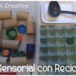 Cómo preparar una caja sensorial con material reciclable para trabajar la psicomotricidad fina
