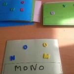 Aprendemos a escribir con el juego de las letras desordenadas