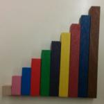 Actividad para trabajar conceptos matemáticos con barritas Montessori