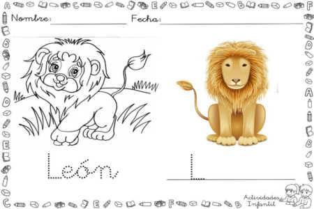 Dibujo de león para colorear - Actividades infantil