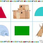 Juego de relaciones para aprender las figuras geométricas
