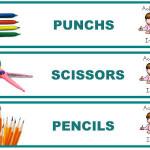 Etiquetas para tener la clase bien organizada  (versión Inglés y versión catalán)
