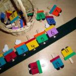 Divertido juego para el rincón matemático: El tren de los números