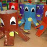 Cómo crear pulpos divertidos con material reciclado