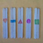 Trabajando la simetría con los peques con palos de polo