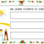 Unos dictados visuales para aprender a escribir en Navidad