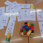 Aprendiendo a sumar con piezas encajables