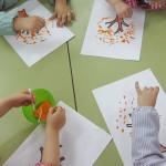 Técnica plástica:  Pintando con bastoncillos