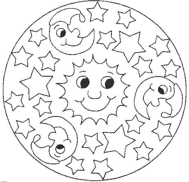 mandalas para colorear ninos 4 anos