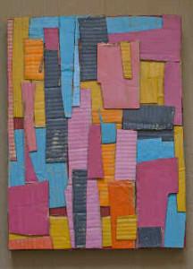 Hacemos un cuadro abstracto con cartón