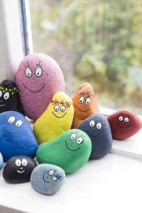 Transformamos piedras en curiosos personajes