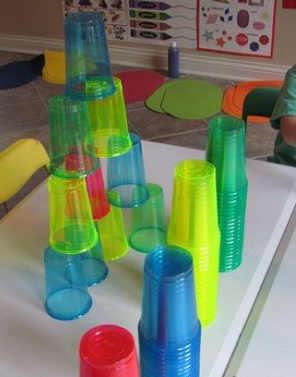 torres con vasos