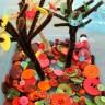 Un bosque de botones de colores para trabajar la psicomotricidad fina