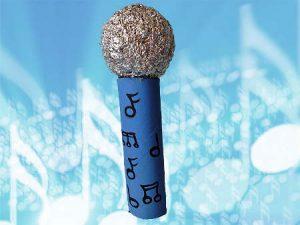 Un micrófono mágico para cantar como las estrellas del rock