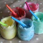 Cómo hacer pintura de dedos casera