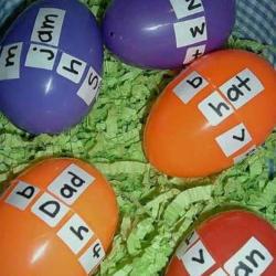 Aprendemos a leer con huevos de colores