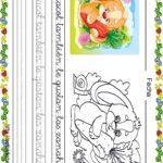 Fichas de lectoescritura para niños: Caracol y conejito
