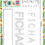 Fichas de lectoescritura para niños: Vocabulario escuela F
