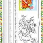 Fichas de lectoescritura para niños: Tigre y mariposa