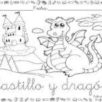 Dibujo de castillo 3 para colorear