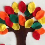 Manualidad de otoño: Un árbol lleno de hojas otoñales