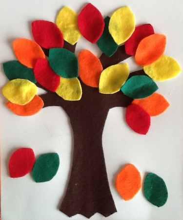 arbol con hojas de otoño