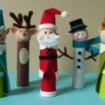 Divertidos personajes de Navidad.
