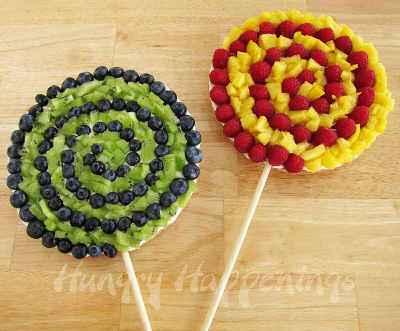 piruletas de fruta