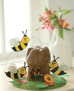 colmena de abejas reciclada