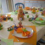 Bonita decoración para la mesa de Pascua