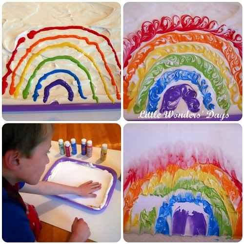 arcoiris con espuma 1