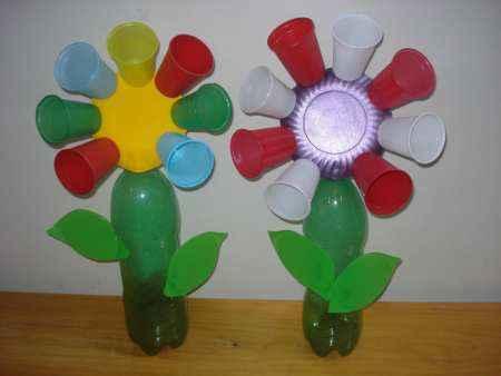 Cómo Hacer Flores Con Envases De Plástico Reciclados