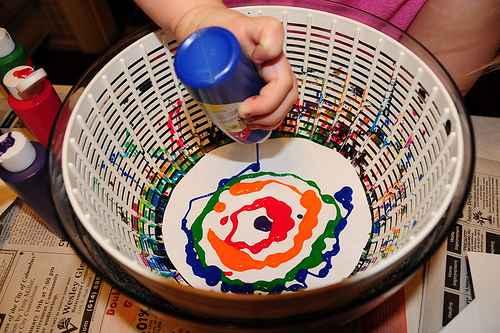 pintar con centrifugadora 1