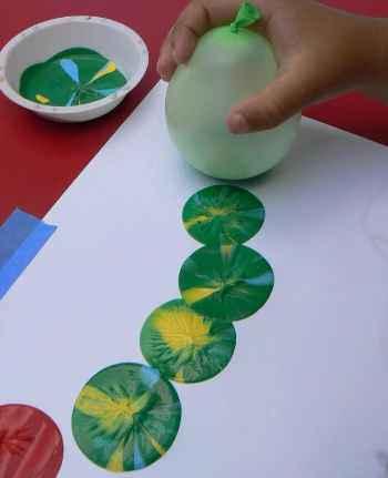pintar con globos
