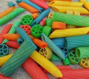 pasta de colores